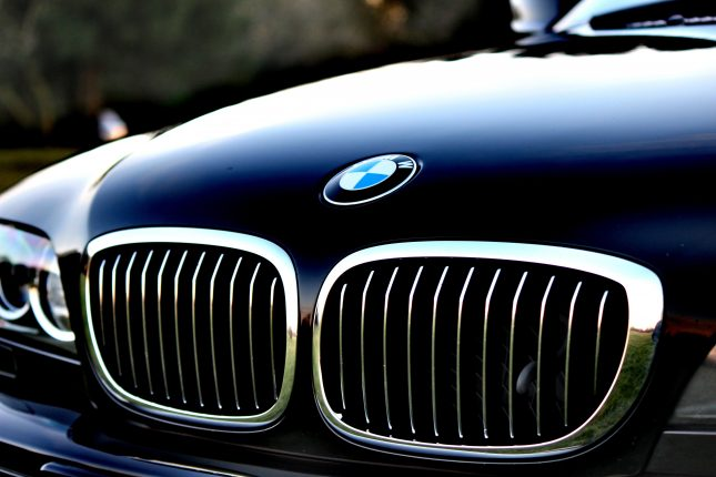 Blokada kierownicy BMW